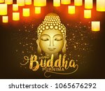 illustration of buddha purnima... | Shutterstock .eps vector #1065676292