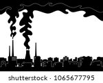 illustration of a dark city and ... | Shutterstock .eps vector #1065677795