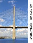vasco da gama bridge in lisbon  ... | Shutterstock . vector #1065687425