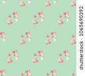 koi fish seamless background on ...   Shutterstock .eps vector #1065690392