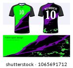 soccer jersey and t shirt sport ... | Shutterstock .eps vector #1065691712