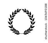 laurel wreath reward. modern... | Shutterstock .eps vector #1065693188