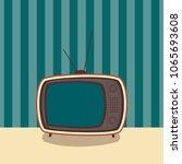 vintage television illustration ... | Shutterstock .eps vector #1065693608