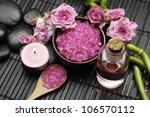 spa settings       pink rose... | Shutterstock . vector #106570112