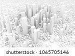 3d rendering of white city | Shutterstock . vector #1065705146