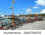 bicycle parking on the... | Shutterstock . vector #1065706532