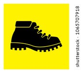 black hiking boots icon vector | Shutterstock .eps vector #1065707918