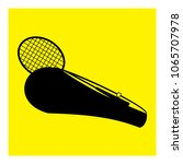 tennis racket with a bag icon... | Shutterstock .eps vector #1065707978