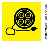 extension cord icon vector | Shutterstock .eps vector #1065708008