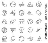 thin line icon set   success... | Shutterstock .eps vector #1065708938