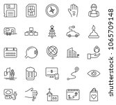 thin line icon set   monitor... | Shutterstock .eps vector #1065709148