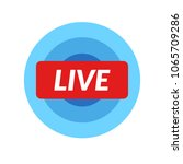 live icon video stream emblem.... | Shutterstock .eps vector #1065709286