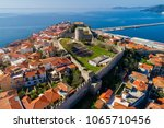 aerial view the city of kavala... | Shutterstock . vector #1065710456