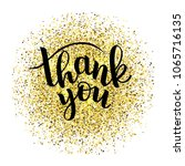 hand sketched thank you text on ... | Shutterstock .eps vector #1065716135