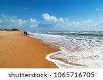 beautiful baga beach of goa ... | Shutterstock . vector #1065716705
