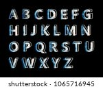 vector alphabet set geometric... | Shutterstock .eps vector #1065716945