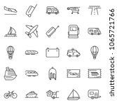thin line icon set   home... | Shutterstock .eps vector #1065721766