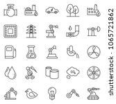 thin line icon set   fan vector ... | Shutterstock .eps vector #1065721862