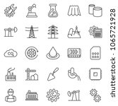 thin line icon set  ... | Shutterstock .eps vector #1065721928