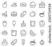 thin line icon set   sausage... | Shutterstock .eps vector #1065724928