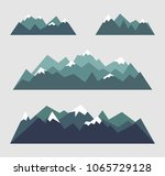 set of mountains landscapes in... | Shutterstock .eps vector #1065729128