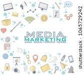 social media marketing | Shutterstock .eps vector #1065729242