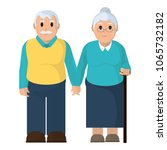 old couple together with casual ... | Shutterstock .eps vector #1065732182