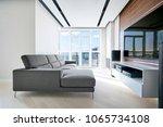 tv area in the modern hi tech... | Shutterstock . vector #1065734108