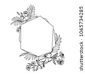 graphic floral geometry frame.  ... | Shutterstock . vector #1065734285