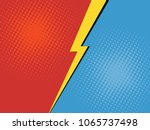 comic book versus background.... | Shutterstock .eps vector #1065737498