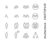 people icons line work group... | Shutterstock .eps vector #1065739145