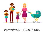 happy mother's day concept... | Shutterstock .eps vector #1065741302