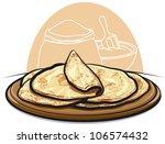 pita bread   Shutterstock .eps vector #106574432