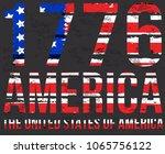 american grunge flag. an... | Shutterstock .eps vector #1065756122