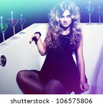 attractive sexy woman with... | Shutterstock . vector #106575806