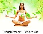 attractive brunette woman in... | Shutterstock . vector #106575935
