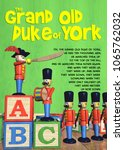 grand old duke of york   3d... | Shutterstock . vector #1065762032