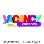 Stock vector vector creative illustration of vacancy business word lettering typography on white background 1065769616