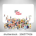 a large group of pixel people... | Shutterstock .eps vector #106577426