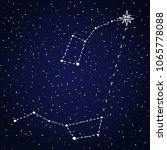 finding north star polaris.... | Shutterstock .eps vector #1065778088