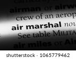 Small photo of air marshal word in a dictionary. air marshal concept.