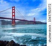 golden gate bridge in san... | Shutterstock . vector #1065782372