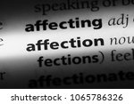 affection word in a dictionary. ... | Shutterstock . vector #1065786326