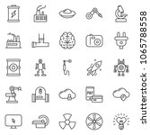 thin line icon set   mobile pay ... | Shutterstock .eps vector #1065788558