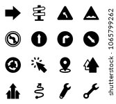 solid vector icon set   right... | Shutterstock .eps vector #1065799262