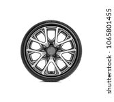 car wheel with alloy wheel on a ... | Shutterstock . vector #1065801455