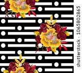 vintage seamless pattern with... | Shutterstock . vector #1065802865