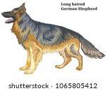 colorful decorative portrait of ... | Shutterstock .eps vector #1065805412