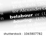 Small photo of belabour word in a dictionary. belabour concept.