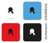 pictograph of award flat vector ... | Shutterstock .eps vector #1065808136